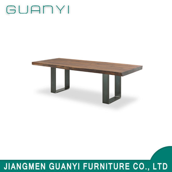 2019 Classic Modern Meeting Dining Metal Leg Table