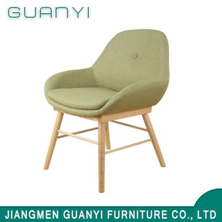 Wooden Legs Fabric Seat Dining Chair for Restaurant