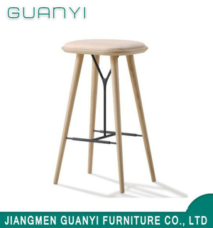 Modern Furniture Leisure White Ash Wood Bar Stool