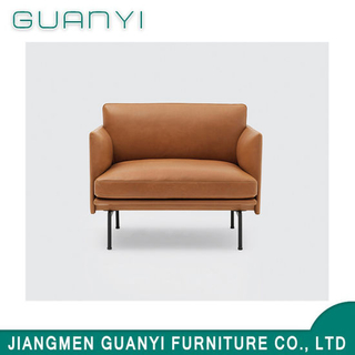 2019 Modern Metal Single Hotel Furniture Leather Sofa Sets