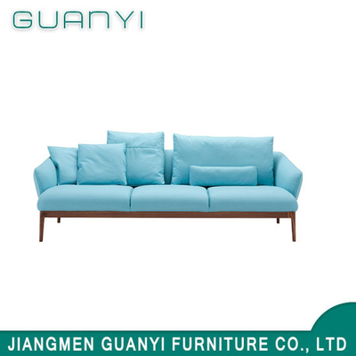 Modern Home Furniture Blue Soft Two Seats Bed Room Furniture Fabric Sofa for Living Room