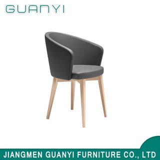 2019 Modern New Arrival Wooden PU Hotel Home Use Dining Chair