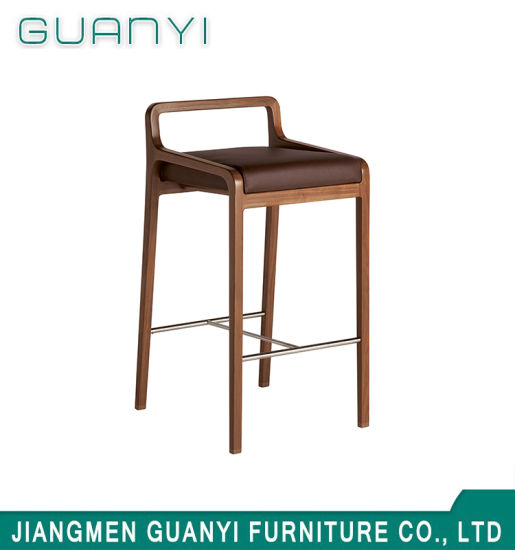 2019 Modern Wooden Furniture Hotel High Stool Chair