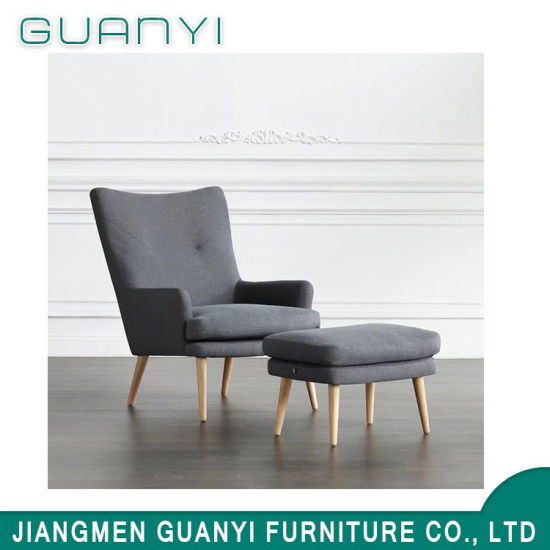 Newly Latest Wooden Fabric Restaurant Armchair with Footest