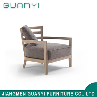 Modern New Design Ash Wood Hotel Armchair with Fabric