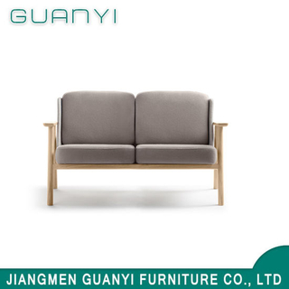 Modern Popular White Elegant Double Sofa with Wood Leg for Living Room Home Furniture Sofa