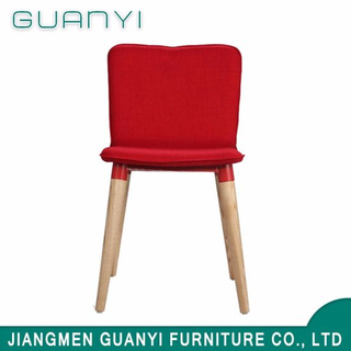 High Quality China Made Fabric Solid Wood Leg Restaurant Chair