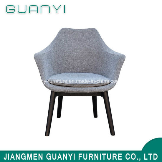 2018 Leisure Wooden Leg Genuine Leather Dining Living Room Chair