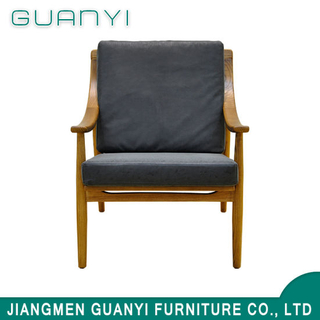 Simple Style Indoor Wooden Lounge Chair / Leisure Chair of Modern Style