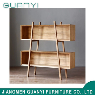 Hot Sale Natural Solid Wooden Furniture Bookshelf