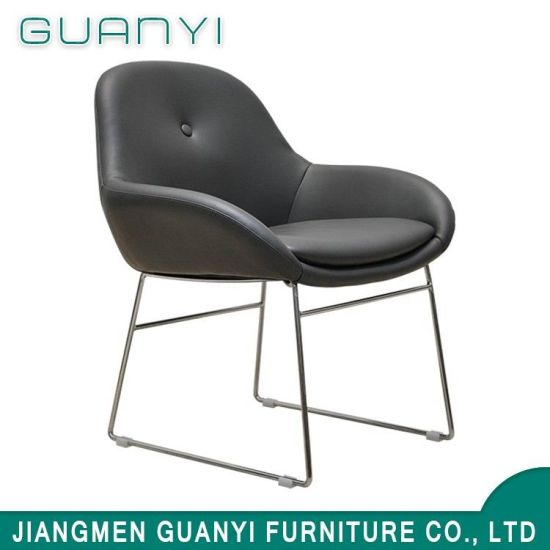 PU Leather Metal Frame Dining Chairs