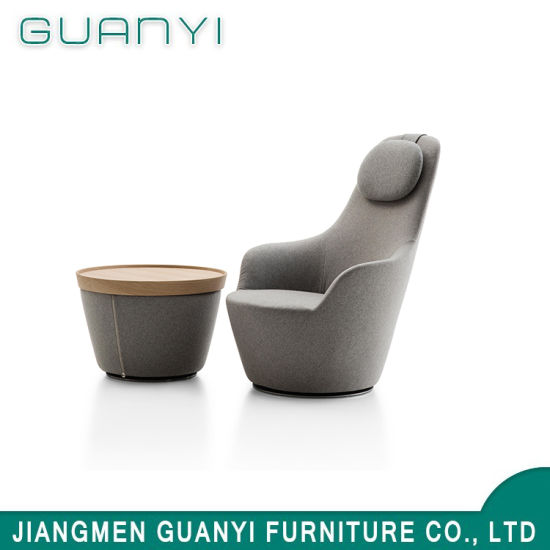 2018 New Modern Wooden Nice Hotel Furniture Armchair with Footrest