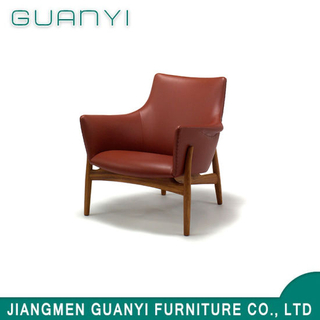 2019 Leisure Wooden PU Leather Hotel Furniture Armchair